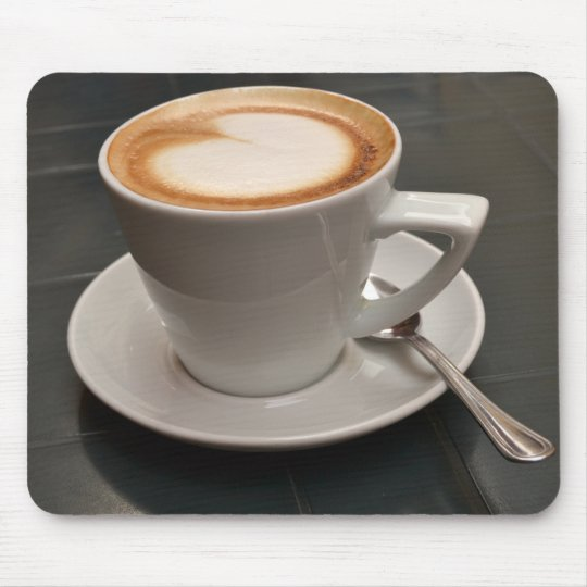 Cappuccino with heart - Mach times break! Mouse Mat