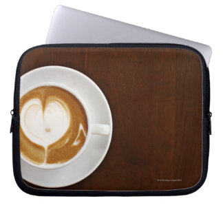 Cappuccino with love laptop sleeve