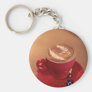 Cappucino Blank Basic Round Button Key Ring