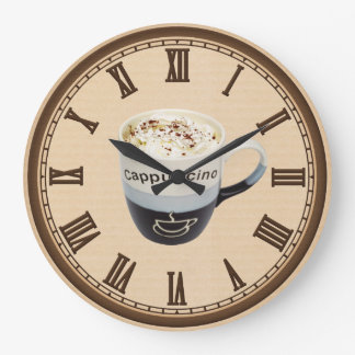 Cappucino Coffee shop fun wall clock
