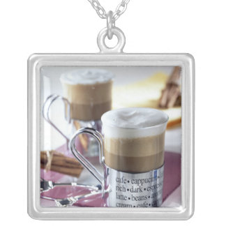 Cappucino For use in USA only.) 2 Silver Plated Necklace