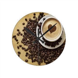 Cappucino Heart Cafe Wallclock