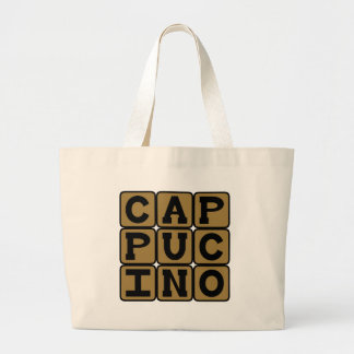 Cappucino Italian Coffee Drink Canvas Bags