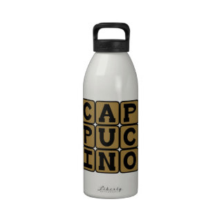 Cappucino, Italian Coffee Drink Drinking Bottles