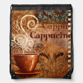 Cappucino Drawstring Bags