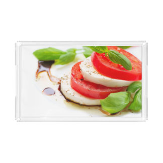 Caprese Salad. Tomato and Mozzarella slices Acrylic Tray