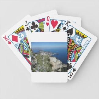 Capri Faraglion Rocks Italy High View.JPG Bicycle Playing Cards