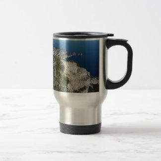 Capri Faraglion Rocks Italy High View.JPG Travel Mug