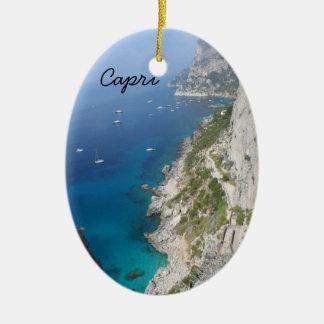 Capri, Italy Ceramic Oval Decoration