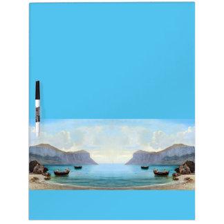 Capri Italy Ocean Beach Boats Dry Erase Board