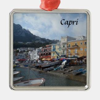 Capri, Italy Silver-Colored Square Decoration