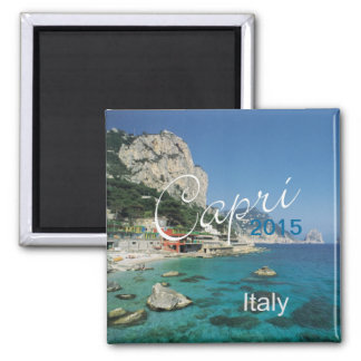 Capri Italy Travel Fridge Magnet Change Year