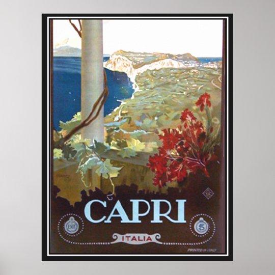 Capri Italy Vintage Poster Print