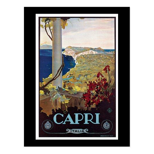 Capri, Italy Vintage Travel Poster Postcard