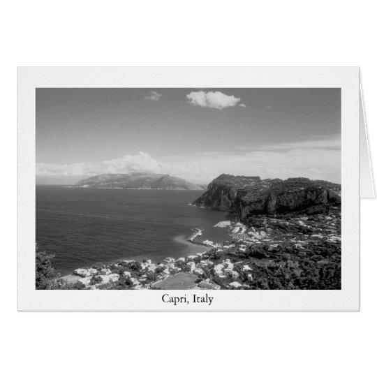 Capri Marina Black  & White Card