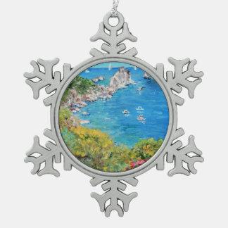 Capri - Pewter Snowflake Ornament