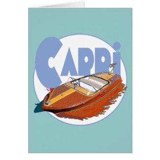 Capri Powerboat Greeting Card