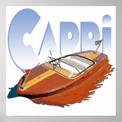 Capri Powerboat Poster