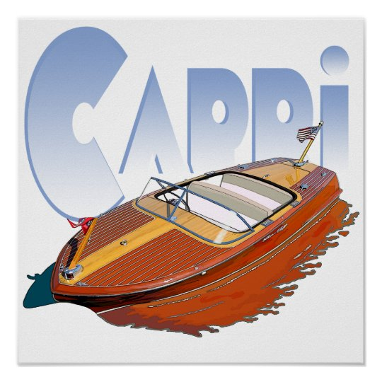 Capri Powerboat Poster