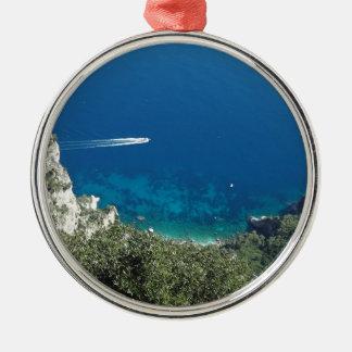 Capri Sea.JPG Silver-Colored Round Decoration