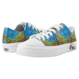 Capri, Zipz Low Top Shoes, US Men 4 / US Women 6 Printed Shoes