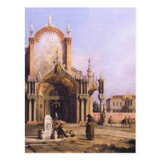 Capriccio of a Round Church with an Elaborate Postcard