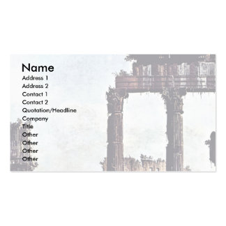 Capriccio Romano Colosseum By Bernardo Bellotto Business Card Templates
