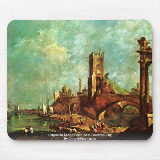 Capriccio Scene Porch At A Towered City Mousepads