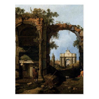 Capriccio with Classical Ruins and Buildings Postcard