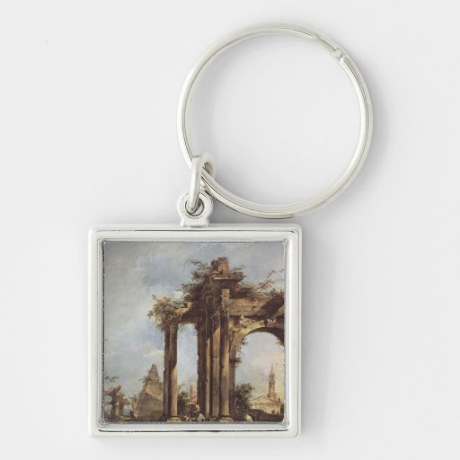 Capriccio with Roman Ruins, a Pyramid and Key Chains