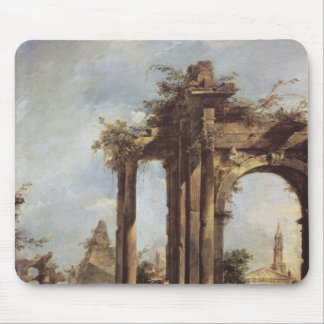 Capriccio with Roman Ruins, a Pyramid and Mouse Mat