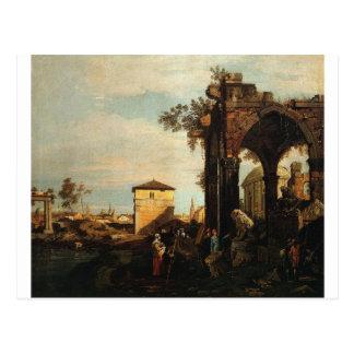 Capriccio with Ruins and Porta Portello in Padua Postcard