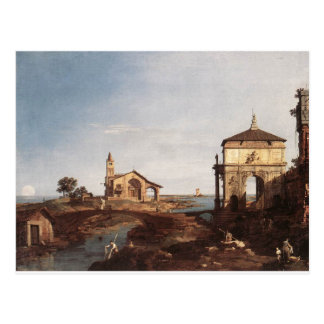 Capriccio with Venetian Motifs by Canaletto Postcard