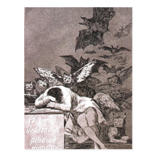 Caprichos - The Sleep of Reason Sumario El sue?o d Postcard