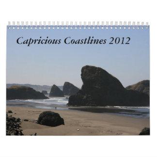 Capricious Coastlines 2012 Wall Calendar