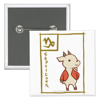 Capricorn 15 Cm Square Badge