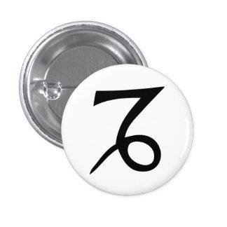 Capricorn 3 Cm Round Badge