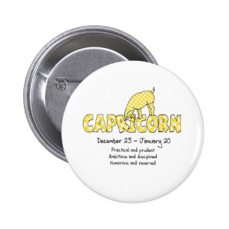 Capricorn 6 Cm Round Badge