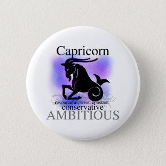 Capricorn About You 6 Cm Round Badge