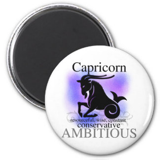 Capricorn About You 6 Cm Round Magnet