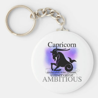 Capricorn About You Basic Round Button Key Ring