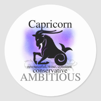 Capricorn About You Round Sticker