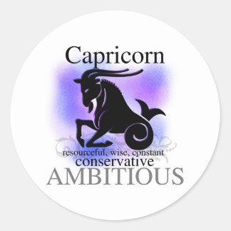 Capricorn About You Round Sticker