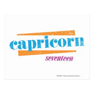 Capricorn Aqua Postcard