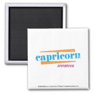 Capricorn Aqua Square Magnet