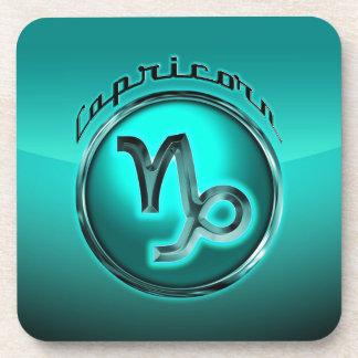 Capricorn Astrological Sign Beverage Coasters