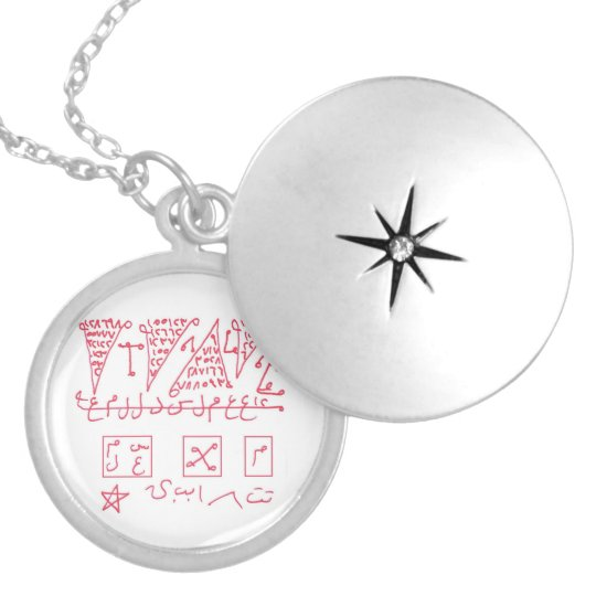 Capricorn Astrological Zodiac Good Luck Talisman Locket Necklace