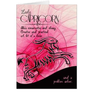 Capricorn Birthday For Her Zodiac Star Sign Card