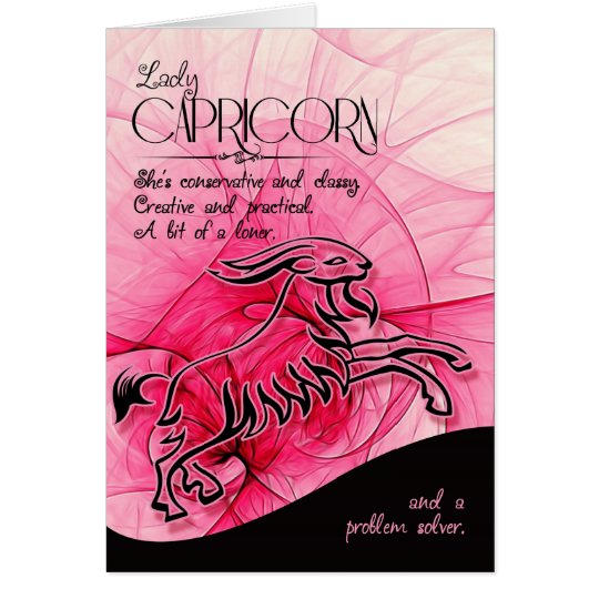 Capricorn Birthday For Her Zodiac Star Sign Card