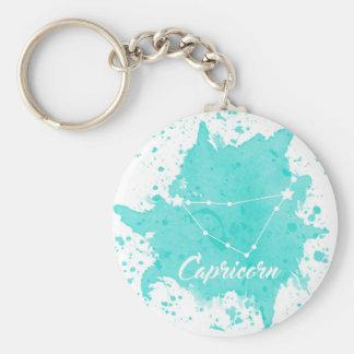 Capricorn Blue Keychain